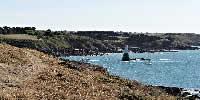 Couleurs de Bretagne en Côtes d'Armor le poste de garde sur le chemin du port Dahouët - 22370 - Dahouët - couleursdebretagne.fr