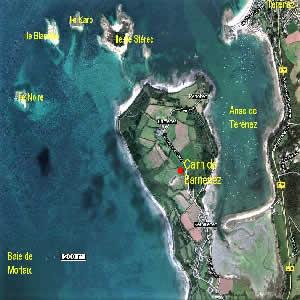 Plan satellite du site du cairn de Barnenez - Bretagne 29252 - couleursdebretagne.fr